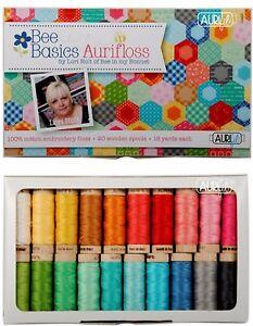 Bee Basics Aurifloss by Lori Holt - 20 6 Strand Embroidery Floss 18 yard Spools