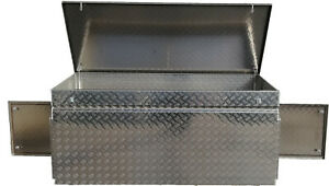 Pritschenbox OK2 Türen, Deckel, 2 Böden Werkzeugkiste Fahrzeugbox Truckbox 995L
