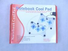 Notebook coolpad. USB, fans, cooling system pulls heataway from the notebook.