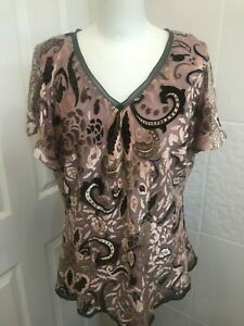 Marks and Spencer Suede Patterned Blouse 18