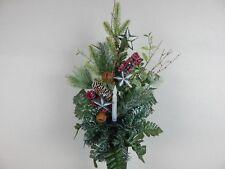 Solar Light Flickering Candle Christmas Cemetery Flower Headstone Vase Bush
