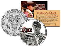 JOHN WAYNE - THE DUKE * The Alamo * JFK Kennedy Half Dollar US Coin * LICENSED *