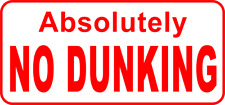 Vintage Style No Dunking Sign for Home Basketball Court or Gym Club
