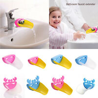 Cute Cartoon Faucet Extender Kids Happy Fun Tubs Baby Hand Washing Bathroom Sink
