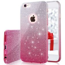 COVER Custodia Glitter GRADIENTE Morbida Silicone x APPLE IPHONE 6 6S PLUS Rosa