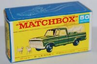 Matchbox Lesney No 50 Ford Kennel Truck  empty Repro style F Box
