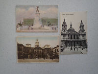 3 Vintage Postcard-St.Pauls, Horse Guad, The Queen Vic.Memorial London(200-202)