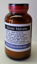 Silver Nitrate - 500 grams, 99.95% pure, freshly made