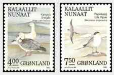 Timbres Oiseaux Groenland 187/8 ** lot 28279