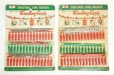 Vtg Christmas Card Holders Hang Up Your Greeting Cards On The Line 45 Pins