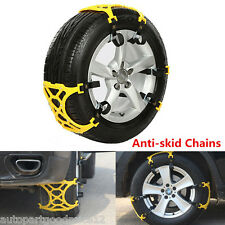 3Pcs/Set Car Snow Tire Anti-skid Chains Thickened Beef Tendon Wheel Antiskid TPU