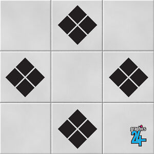 Diamonds Vinyl Wall Tile Stickers Decals Kitchen Bathroom Home Decor