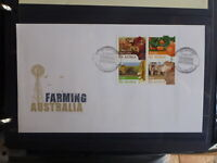 AUSTRALIA 2012 AUSTRALIAN FARMING SET BLK 4 STAMPS FDC FIRST DAY COVER