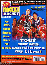 MAXI BASKET n°181 du 2/1999; Interview Rigaudeau, Makan Dioumassi/ Josh Grant