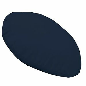la09n Navy Blue Round Shape High Quality Cotton Canvas Cushion/Pillow Cover Size