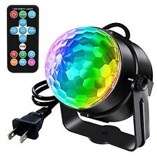 Party Disco Ball Psychedelic Lamp Light Projector Sound Activated (with Remote)