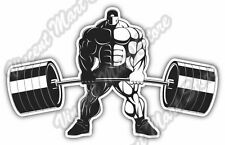 "Bodybuilder Barbell Weightlifting Olympic Car Bumper Vinyl Sticker Decal 5""X4"""