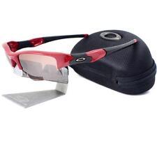 Oakley Custom FLAK JACKET XLJ Lipstick Red VR28 Black Iridium Mens Sunglasses