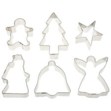 Ateco Christmas Cookie Cutters, 6-Piece Set