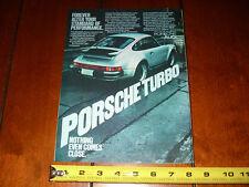 1977 PORSCHE CARRERA - ORIGINAL AD