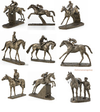 Horse Racing and Jockey Models Sculptures Bronzes David Geenty Harriet Glen New