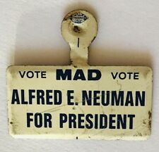 Mad Magazine Alfred E Newman For President Authentic Pin Badge Rare Vintage (H8)