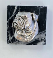 I Am Edgar Berebi This Is My Silver Plate Bulldog Paperweight ... 125 Retail