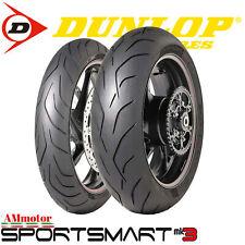 Dunlop Sportsmart MK3 120 70 190 50 Coppia Gomme Pneumatici Moto Multi mescola
