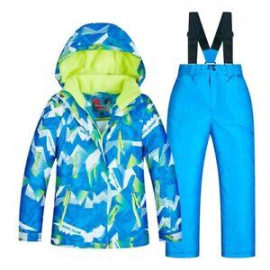 Kids Ski Suit Children Waterproof Warm Snow Jacket and Pants Winter Clothes