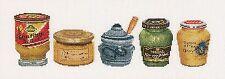 THEA GOUVERNEUR  3046  Pots de Moutarde  Lin    Kit  Point de Croix  Compté