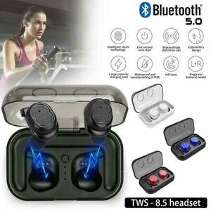 Bluetooth 5.0 Sport Earbuds True Wireless TWS Stereo Earphones In-ear Headphones