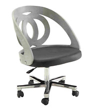 Jual Furnishings PC606 Retro Vintage Style Curve Office Desk Chair Grey Ash