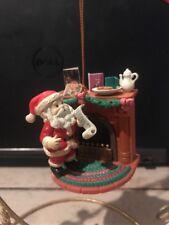 Mistletoe Magic/Not Enesco Christmas Ornament: Santa'S Christmas Eve Stop New