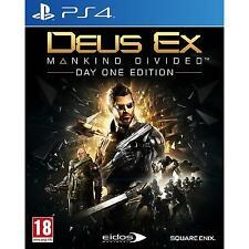PS4 Deus Ex Mankind Divided Day One Edition NUOVO (Multilingua Italiano Incluso)