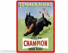 Scottish Terrier Champion Plugs Refrigerator / Tool Box Magnet Man Cave Room