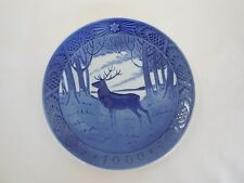 Vintage Royal Copenhagen Collectible Blue Christmas Plate 1960 - The Stag