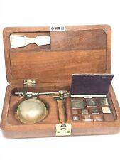 retro/collection - Ancienne balance de précision portative dans coffret bois TBE