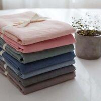 Pillowcase 100% Cotton Linen Cover Pillow Slip Flax Cushion Soft