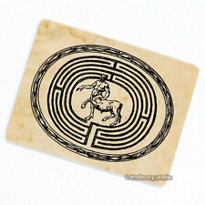Minotaur in Labyrinth Deco Magnet, Decorative Fridge Decor Maze Antique Figure