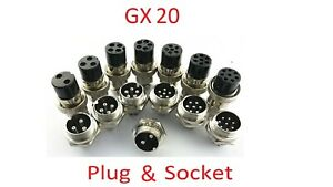 2,3,4,5,6,7,8 pin Aviation Multi-Pin Connector Socket and Plug GX20 20mm