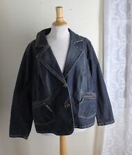 Motto -Sz 1X Artsy Denim Jean Princess Blazer Jacket -Great Details -Mint