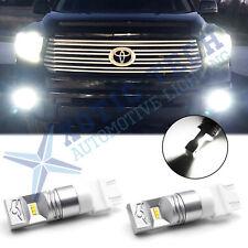 2x 100W Super Bright 6000K White LED Bulbs Error Free DRL Daytime Running Light