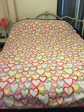 Ikea Vitaminer Hjarta Duvet Cover Twin Size Hearts Pink Yellow Orange White Blue