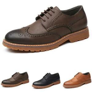 Brogue Mens Dress Formal Business Shoes Wing Tip Carved Oxfords Work Office 44 L