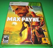 Max Payne 3 Microsoft Xbox 360 *Factory Sealed! *Free Shipping!