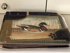 6 Pimpernel Hardboard Cellulose Placemats Scenes of Gould Ducks Made in England