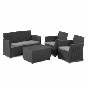 Keter Mia Plastic 4 seater Coffee set Plastic - Garden Furniture 4061