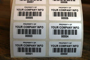 * 500 ASSET LABELS * BARCODE * SERIAL NUMBERS *