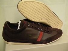 Lacoste shoes misano 22 spm leather/suede dark brown size 10 us