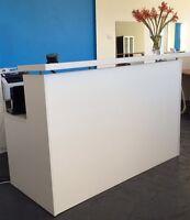 1500w Matt White Reception Desk *ON SALE* Reception Counter-Office Furniture